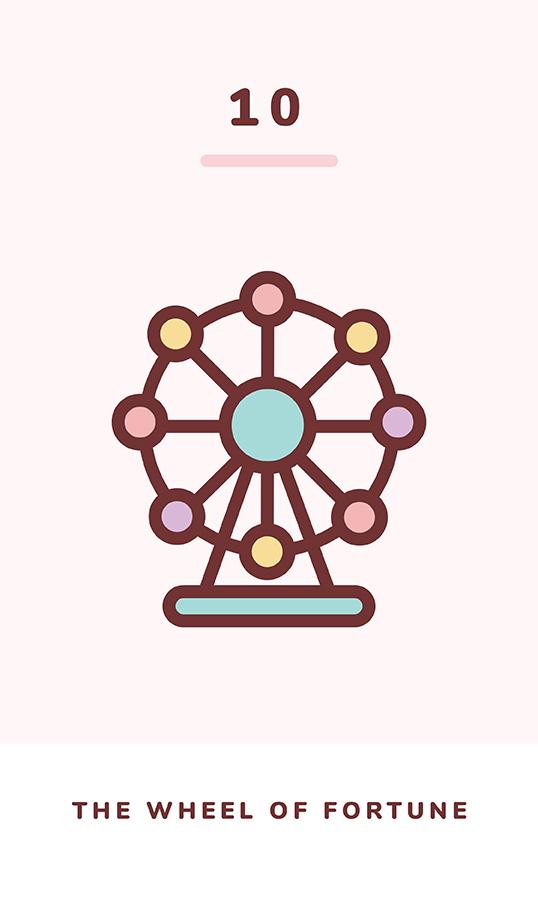The Wheel Of Fortune Kawaii Tarot